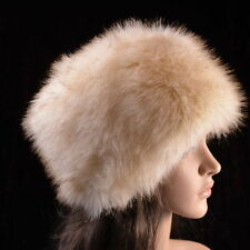 Posh Luxe Top Hight  Quality Faux Fox Fur Glam Hat  Beige !