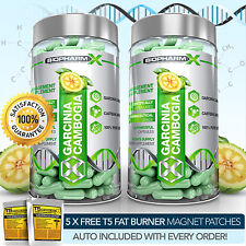 PURE GARCINIA CAMBOGIA x2 - STRONGEST LEGAL SLIMMING / DIET & FAT BURNER PILLS