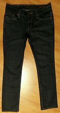 DYLAN GEORGE Blue indigo Stephani Straight Leg Jeans Sz 28 MADE IN USA:-)