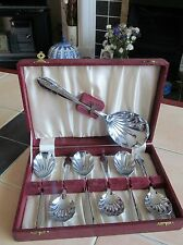 Vintage Deco Boxed Sheffield Chrome Plated Fruit Spoons