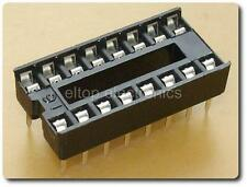 10x nuevo 16 Pin DIL DIP IC Socket 8-14-18-20-24-28-32 Pin disponibles