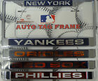 MLB Licensed Laser Cut Chrome License Plate Frame NEW Pick a Team! Most In-stock