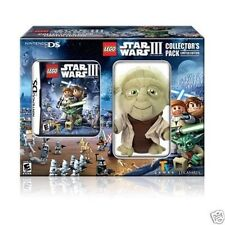 NINTENDO DS LEGO STAR WARS III GAME & PLUSH YODA COLLECTOR PACK NEW!