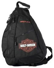 Harley-Davidson® Bar & Shield Sling Backpack Bag | Orange & Black BP1957S-ORGBLK