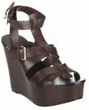 BNWT Ash Banyan Chocolate Leather Wedge Gladiator 7 40