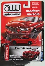 AUTO WORLD 2015 FORD MUSTANG GT 5.0 #6 B 1:64 MODERN MUSCLE RELEASE 1 B