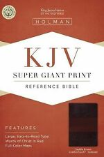 KJV Super Giant Print Reference Bible, Saddle Brown LeatherTouch Indexed, , New