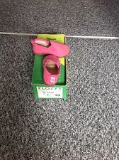 INFANT GIRLS 'FLOSSY' PINK CANVAS SLIP ON SHOES. SIZE 19. ORIGINAL BOX.
