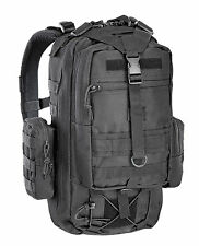 Defcon 5 Tactical Military Police Hiking One Day Backpack Daysack Rucksack Black