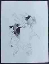 JULES CHERET C1895 ORIGINAL LITHOGRAPH ART NOUVEAU TRY PROOF HALLE AUX CHAPEAUX