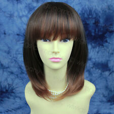 Face Frame Layered Straight Brown Auburn mix Ladies Wig