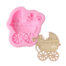 Baby Carriage Polymer Clay Fondant Mold Flexible Silicone Cake Decoration Tool