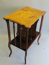 Authentic Signed EMILE GALLE Art Nouveau Inlaid Music Stand  c. 1900  table