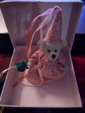 little gem miniature teddy bear Princess with FrogCarol Stewart #299/2000