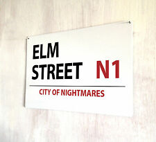 Elm Street City of Nightmares street sign A4 metal plaque decor picture