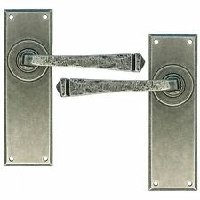 From The Anvil Door Handle 33701 - Pewter Avon Lever Latch Set