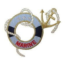 ID 2651 Anchor Nautical Boat Ship Marine Embroidered Iron On Applique Patch