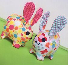BABY BUNNIES - Sewing Craft A5 Creative Card PATTERN - Soft Toy Doll Bear