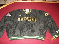 Vintage Green Bay Packers Reebok Pro Line Rare Black V Neck Pull Over Size XL