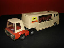Buddy L Jr Farms No. 5123 Horse Box Truck Tin Plate Diecast with 2 Horses Rare