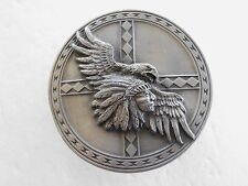 BELT BUCKLE EAGLE WITH INDIAN CHIEF 1991 NEW ARROYO GRANDE AG 70 USA NEW
