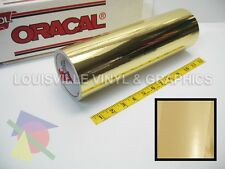 "12"" X 4ft - Oracal 351 Gold Chrome Polyester Hobby Cutting Vinyl Film"