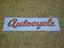 Mint Vintage Schwinn Approved Autocycle Bicycle Downtube or Tank Decal