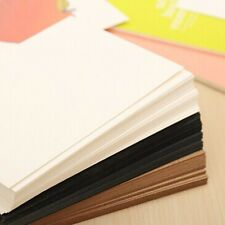 20 Sheets White Thick DIY Blank Post Greeting Card Double Sides Sketch Doodle #U