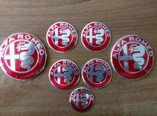 SET of 7pcs Alfa Romeo RED NEW DESIGN GIULIA emblems logo insignia