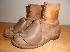 Men's Vtg Brown Leather RED WING Metatarsal Guard Steel-Toe Work Boots Sz-11B