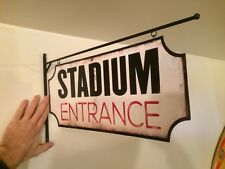 STADIUM ENTRANCE FLANGE TIN METAL BAR WALL HOME DECOR GARAGE MAN CAVE FOOTBALL