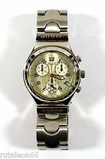 SWATCH original Swiss made quartz IRONY CHRONO YCS411G NOS Stainless steel