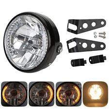 LED MOTORRAD HAUPT SCHEINWERFER H4 35W 12V LAMPE BLINKER BLINKLEUCHTEN HALTER