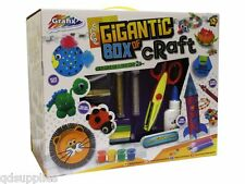 Childrens Gigantic Craft Box Giant Set Beads Pom Poms Eyes 300+ Pieces 06-0040