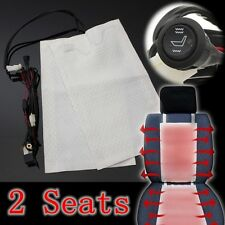 2x Carbon Fiber Seat Car Heater Pads Heated Seat High/Low Round Switch Universal