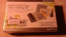 IOGEAR DIGITAL PHOTO / VIDEO EDITING KIT GPF103 (IEEE 1394 3 PORT CARDBUS CARD)