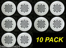 10 Pack Cupboard Vents Round 40mm - Plastic White Circular