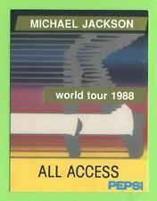 Michael Jackson - World Tour 1988 - Konzert-Karton-Pass Gold - Sammlerstück