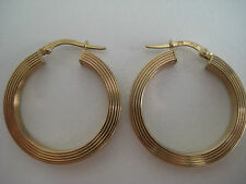 9ct yellow gold ribbed classic huggies hoop earrings HOT ARRIVAL & ON PROMOTION