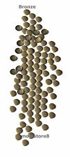 100piece 6mm Round Flat Back Hotfix Metal Studs-Iron On for  Clothes Bronze