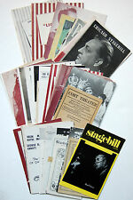 44 Chicago Playbills & Programs, 1912-1979