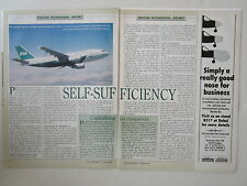 11/93 ARTICLE 4 PAGES PAKISTAN INTERNATIONAL AIRLINES BOEING 747 AIRBUS + COVER