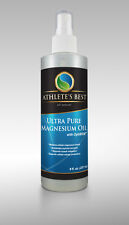 ATHLETE'S BEST MAGNESIUM OIL with TRACE MINERALS & MSM 8oz TOPICAL SPRAY!