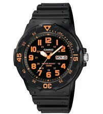 Casio Watch * MRW200H-4BV Diver Look 100WR Black Resin w/Orange COD PayPal