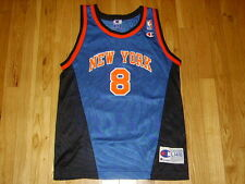 VINTAGE 90s CHAMPION LATRELL SPREWELL NEW YORK KNICKS YOUTH NBA REPLICA JERSEY L