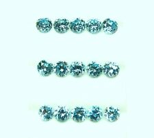 16.12 CtsTol, Natural Loose Gem A Lot /16 Pcs  Round Rich Blue Zircon 5.3 -5.6MM