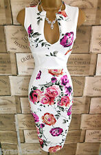Ivory Floral Galaxy Wiggle Cocktail Wedding Races Party Dress Size 8 BNWT