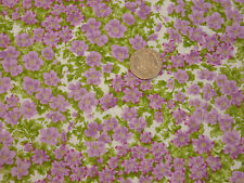 Quilting Fabric Pink/Purple Flowers, Leaves 100% Cotton by Moda Fat Quarter