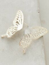 NEW Anthropologie Culoyon Silverwing Posts Halved Butterfly Earrings