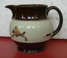 Vintage English   BOURNE DENBY stoneware  jug pitcher Hunt scene